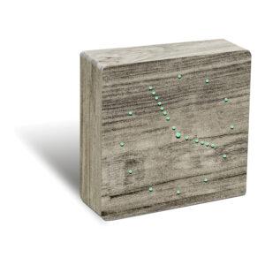 Gingko Analogue Click Clock Vægur Ask (Grøn LED)