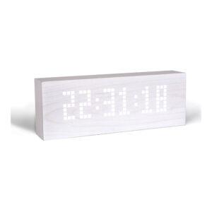 Gingko Besked LED Vækkeur Hvid (Hvid LED)