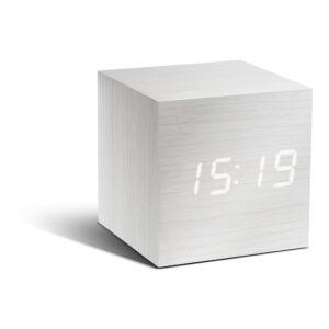 Gingko Cube Vækkeur Hvid (Hvid LED)