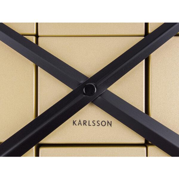Karlsson DIY Cubic Guld Vægur
