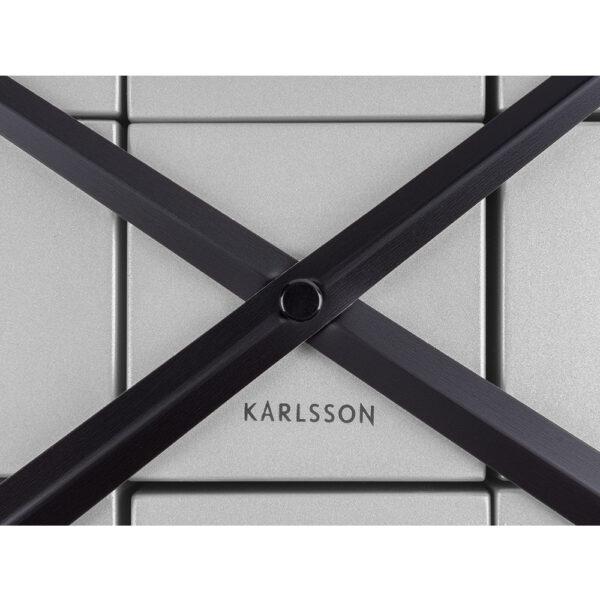 Karlsson DIY Cubic Sølv Vægur