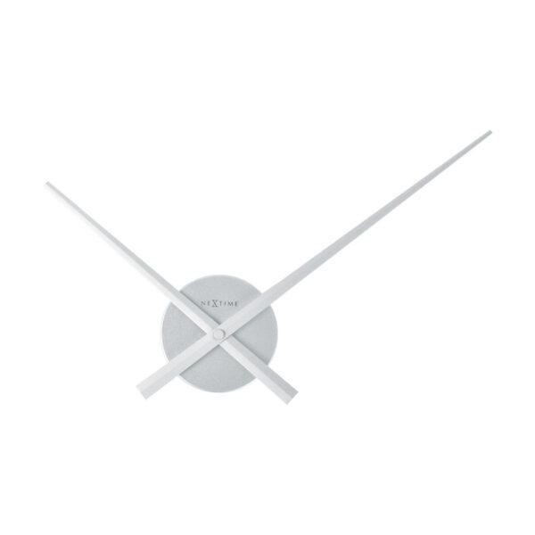 NeXtime Small Hands Sølv Vægur Med Tal (48 cm)