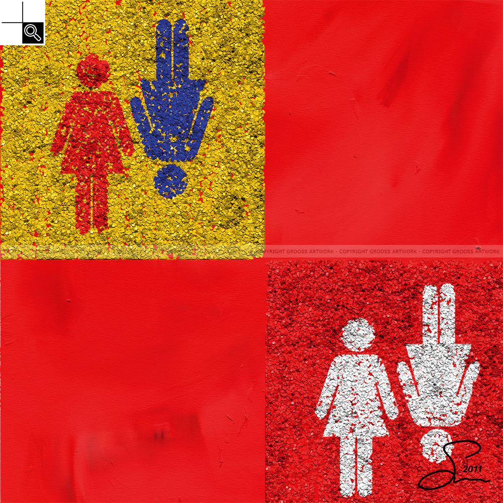Wife & wife (50 X 50 cm)