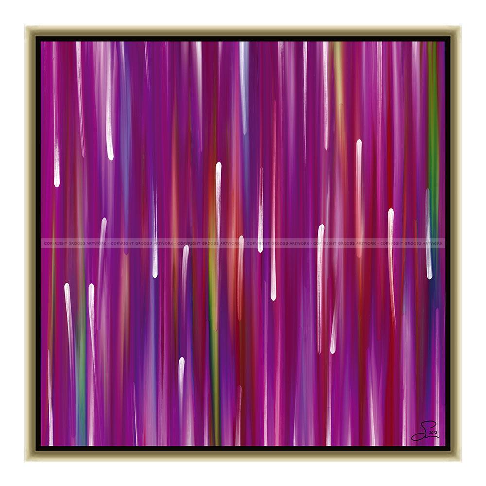 Purple rain (50 X 50 cm)
