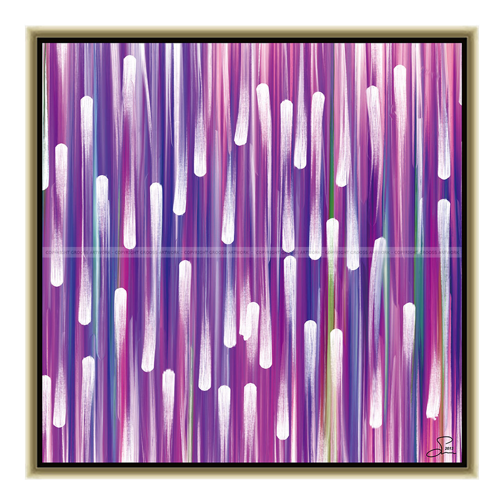 Purple snow (50 X 50 cm)
