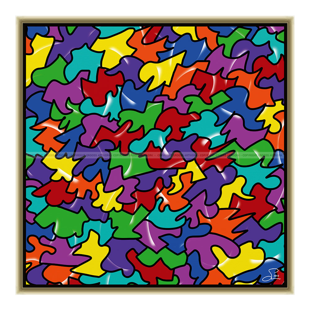 Easy color puzzle (50 X 50 cm)