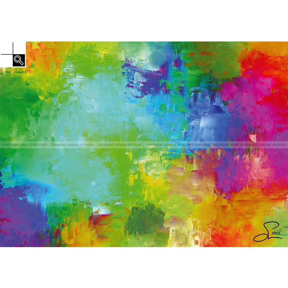 Exploded color cartridges (70 X 50 cm)