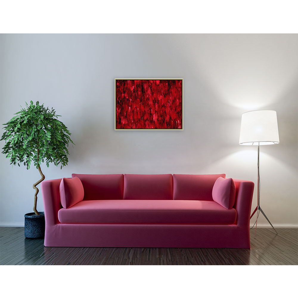 Red attack (80 X 60 cm)
