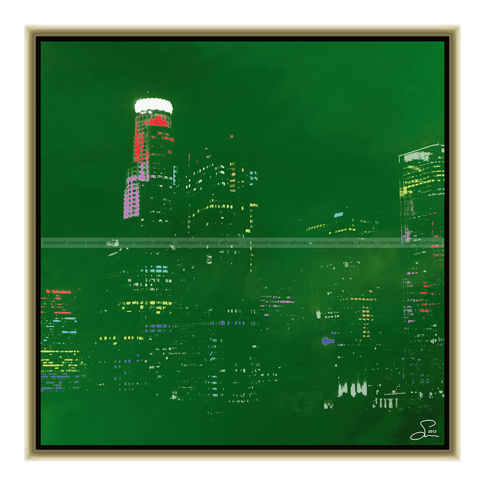 Green los angeles (50 X 50 cm)