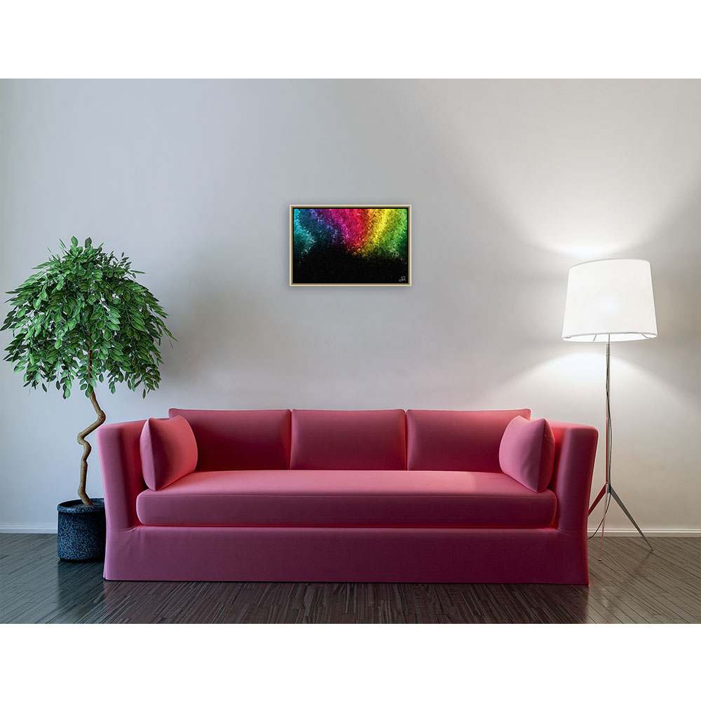 Rainbow disappearing into the darkness (60 X 40 cm)