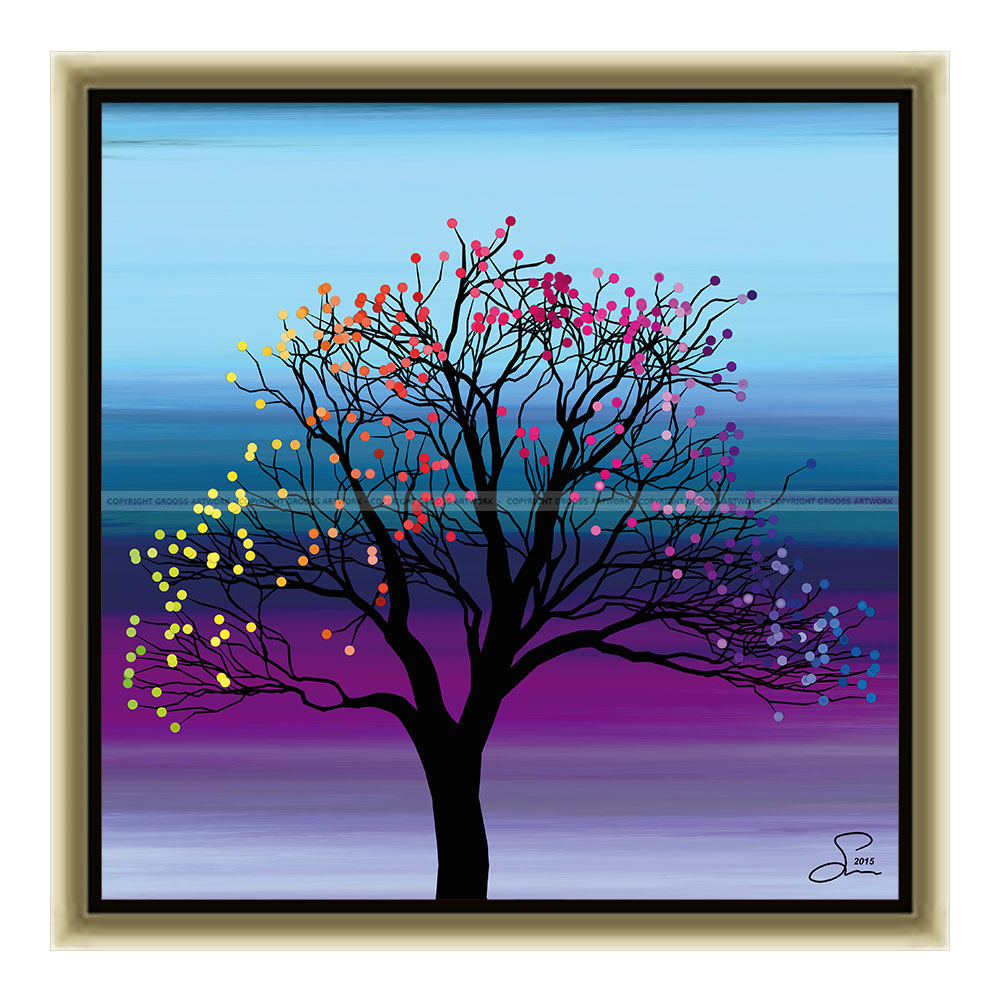 Small tree ''Four'' (30 X 30 cm)