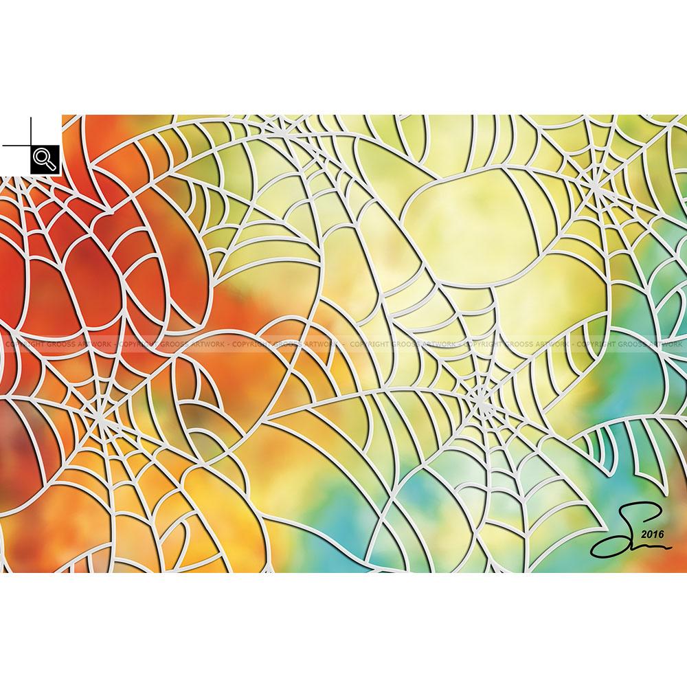 Spider on crystal meth (60 X 40 cm)