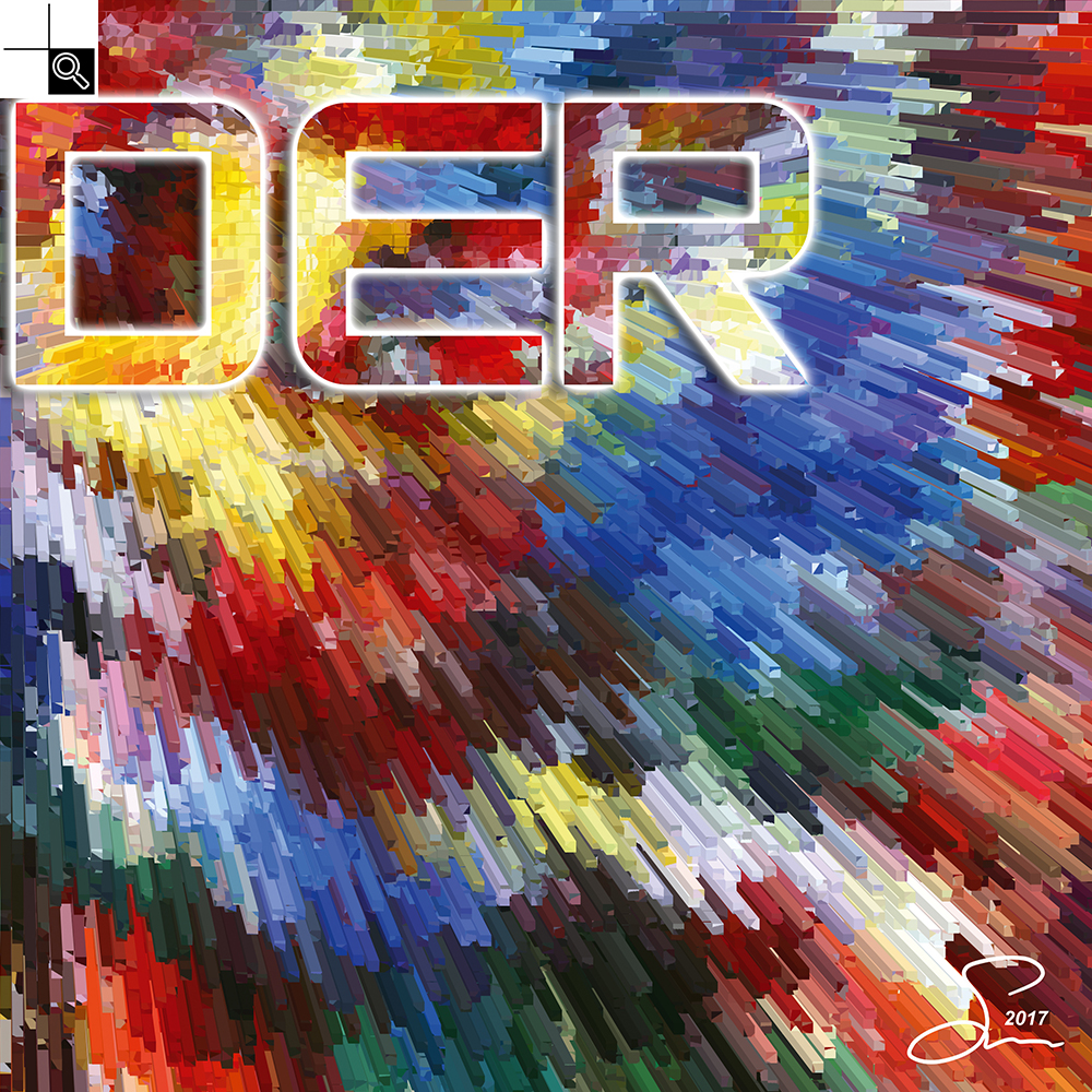 Live louder (50 X 50 cm)