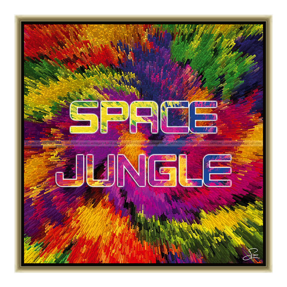 Space jungle (50 X 50 cm)