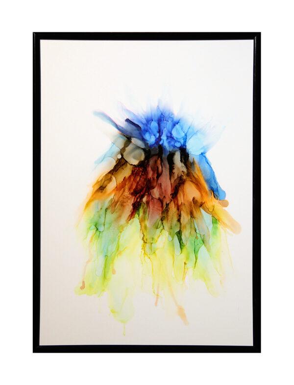 Essence Of Life A4 - Alcohol ink på yupo papir - Af Søren Grooss