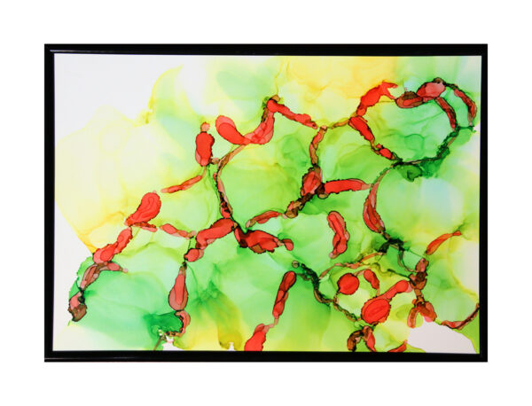 For One Reason A4 - Alcohol ink på yupo papir - Af Søren Grooss